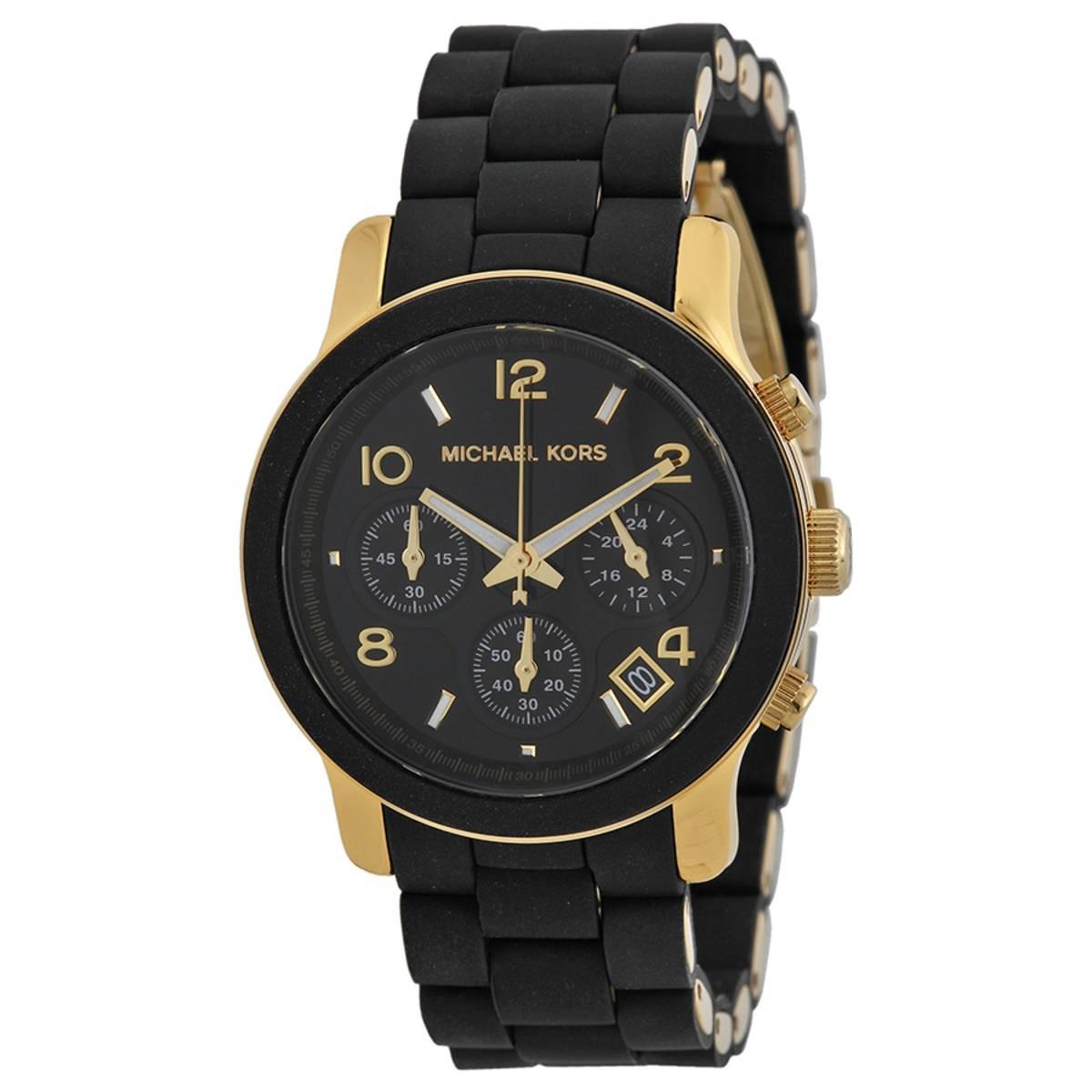 f220f67d30305 relógio michael kors mk5191 preto dourado caixa manual. Carregando zoom.