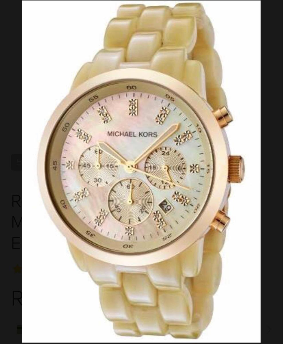 72c10057288b1 relógio michael kors mk5217 madrepérola dourado original. Carregando zoom.