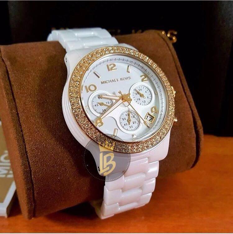 7bd283cf9 Relógio Michael Kors Mk5237 Branco Cerâmica 100%original - R$ 861,97 em  Mercado Livre