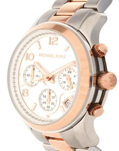 relógio michael kors mk5315 runway orig chron anal gold