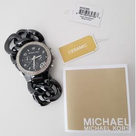 Relógio Michael Kors Mk5388 Original Chronografo Cerâmico!