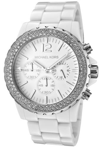 relógio michael kors mk5398 orig chron anal white!!!
