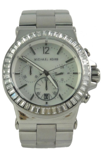 relógio michael kors mk5411 orig chron anal silver