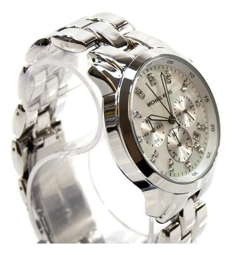 relógio michael kors mk5414 orig chron anal silver!!!