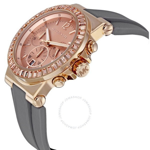 relógio michael kors mk5467 orig chron anal gold rosé