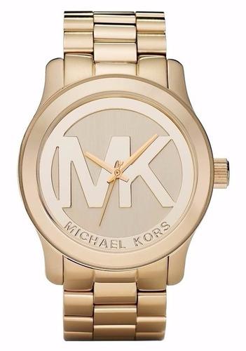 relógio michael kors mk5473 logo mk - lançamento - origina10