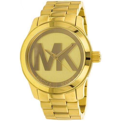 relógio michael kors mk5473 runway orig anal gold
