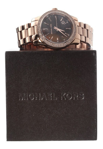 relógio michael kors mk5494 runway orig chron anal gold