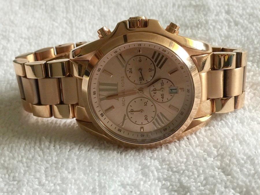 be2207f0eec3b relógio michael kors mk5503 romano, rose, 100% original. Carregando zoom.