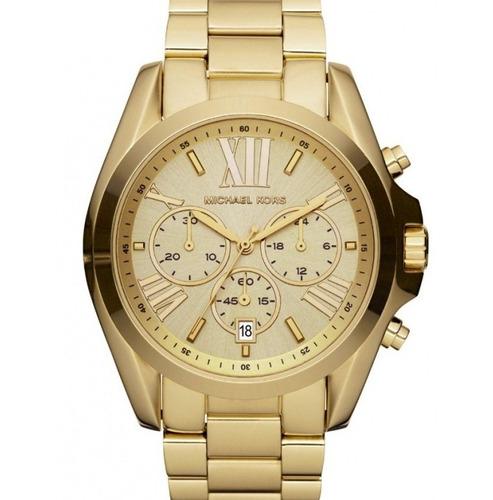 relógio michael kors mk5605 dourado / gold - caixa manual mk