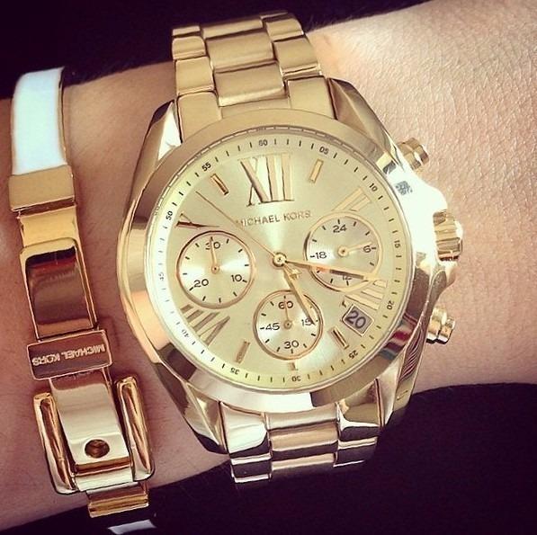 Relógio Michael Kors Mk5605 Ouro Dourado, Garantia, Original - R ... 6ec605413b