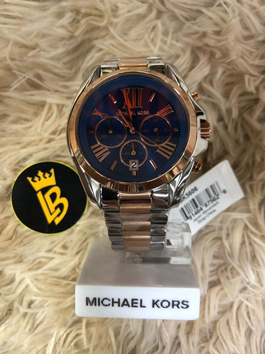 3d581a322ca relógio michael kors mk5606 azul rose original com garantia. Carregando zoom .