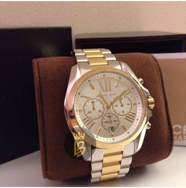 b5178e58a00 Relógio Michael Kors Mk5627 Dourado prata Original Oversize - R  748 ...