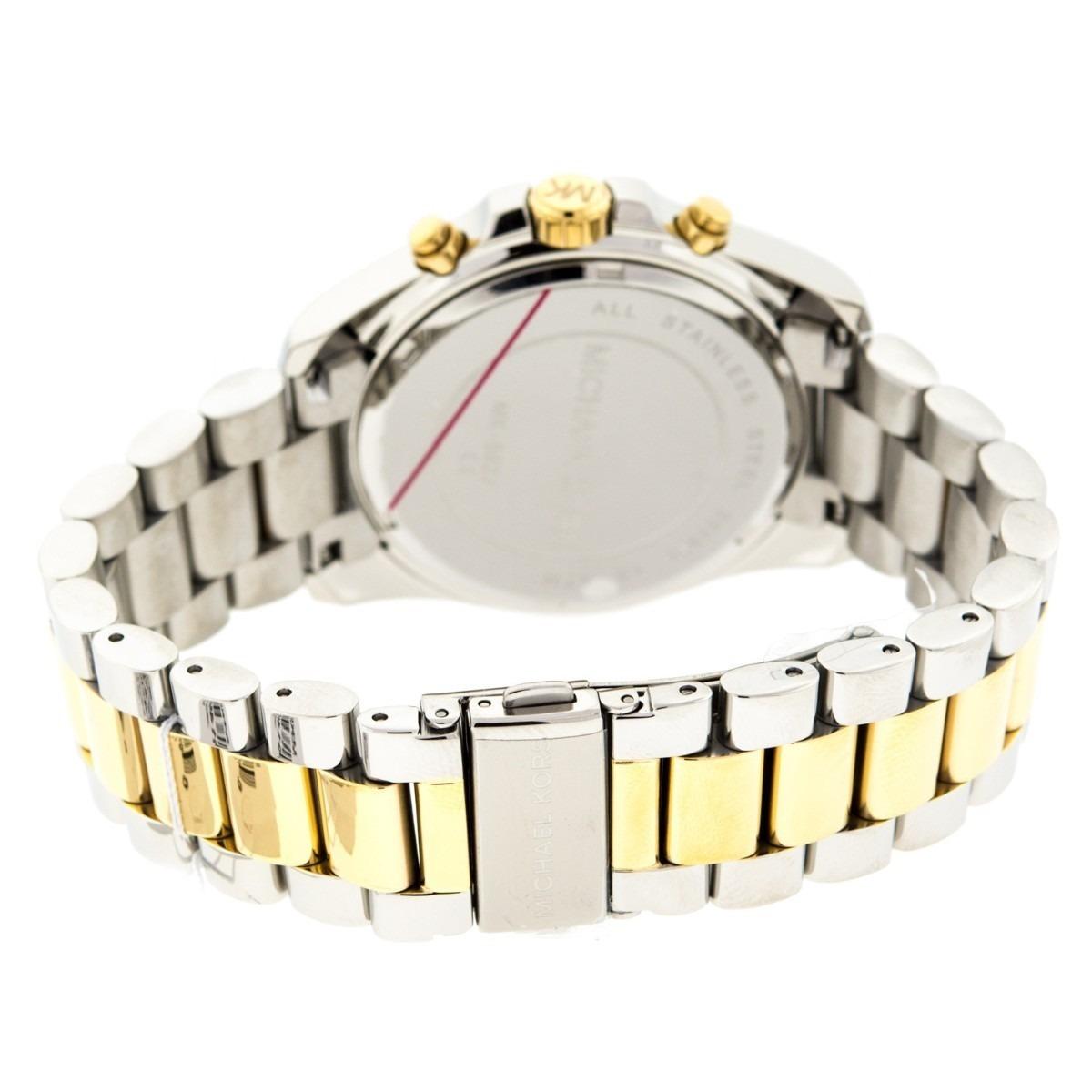 b09fdb2f9bd relógio michael kors mk5627 prata dourado completo. Carregando zoom.