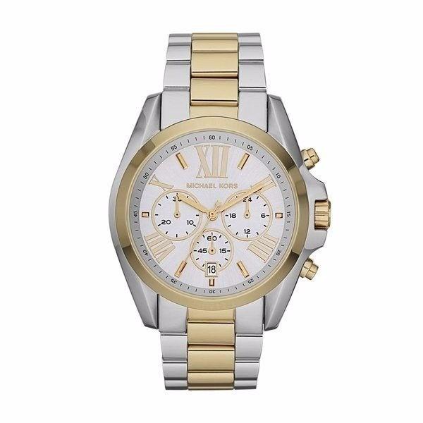 15a0c05a7a0 Relógio Michael Kors Mk5627 Prata E Dourado Caixa E Manual. - R  589 ...