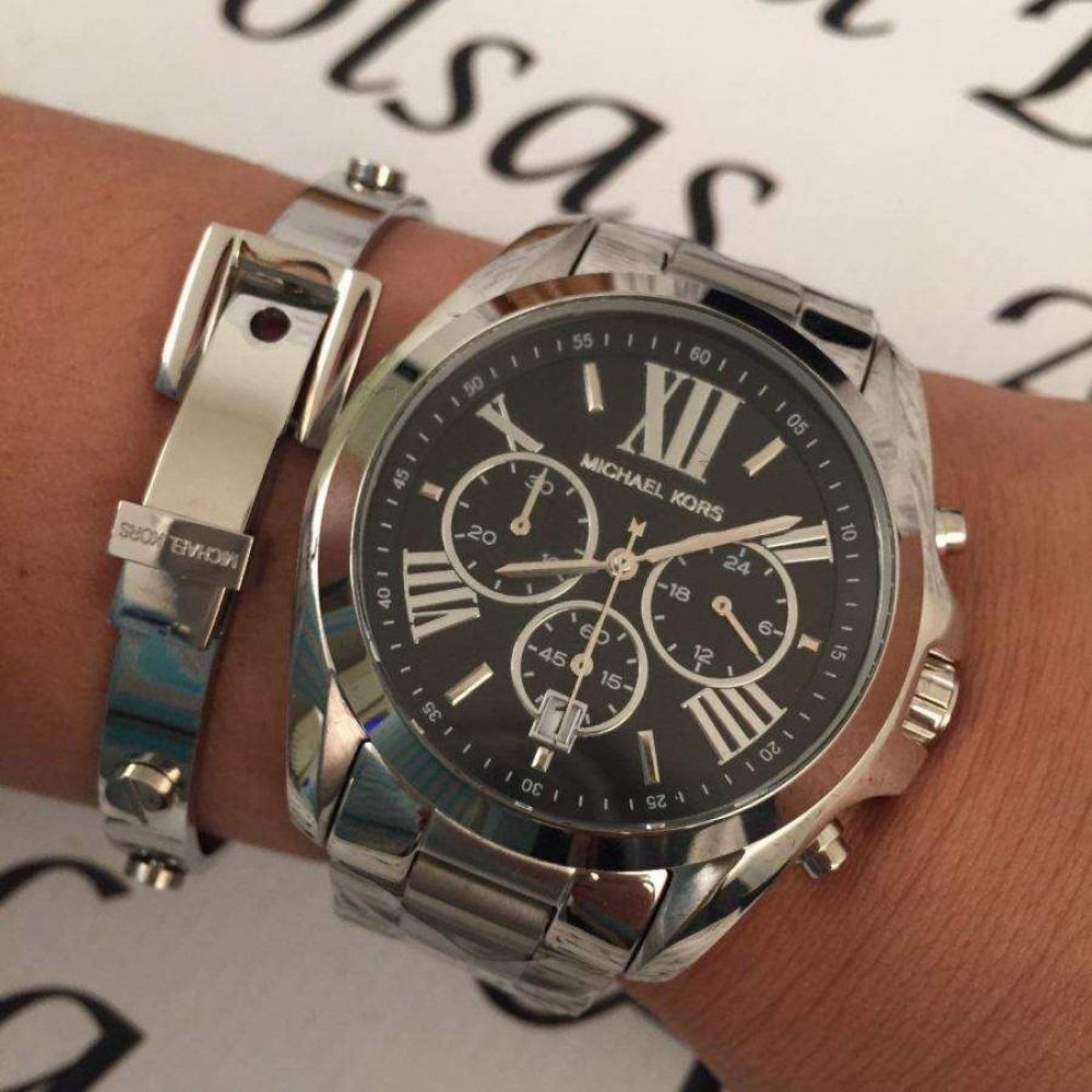b4c176e901414 relógio michael kors mk5705 prata preto original caixa jwl10. Carregando  zoom.