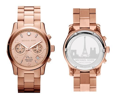 d4f75580590 Relógio Michael Kors Mk5716 Paris Rose Gold Original Garan - R  402 ...