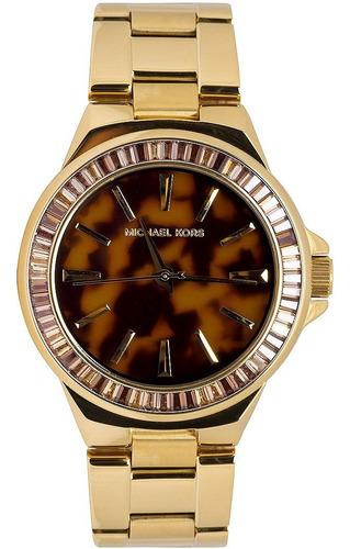 relógio michael kors mk5723 dress orig gold tortoise