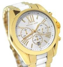 relógio michael kors mk5743 ouro branco original garantia*