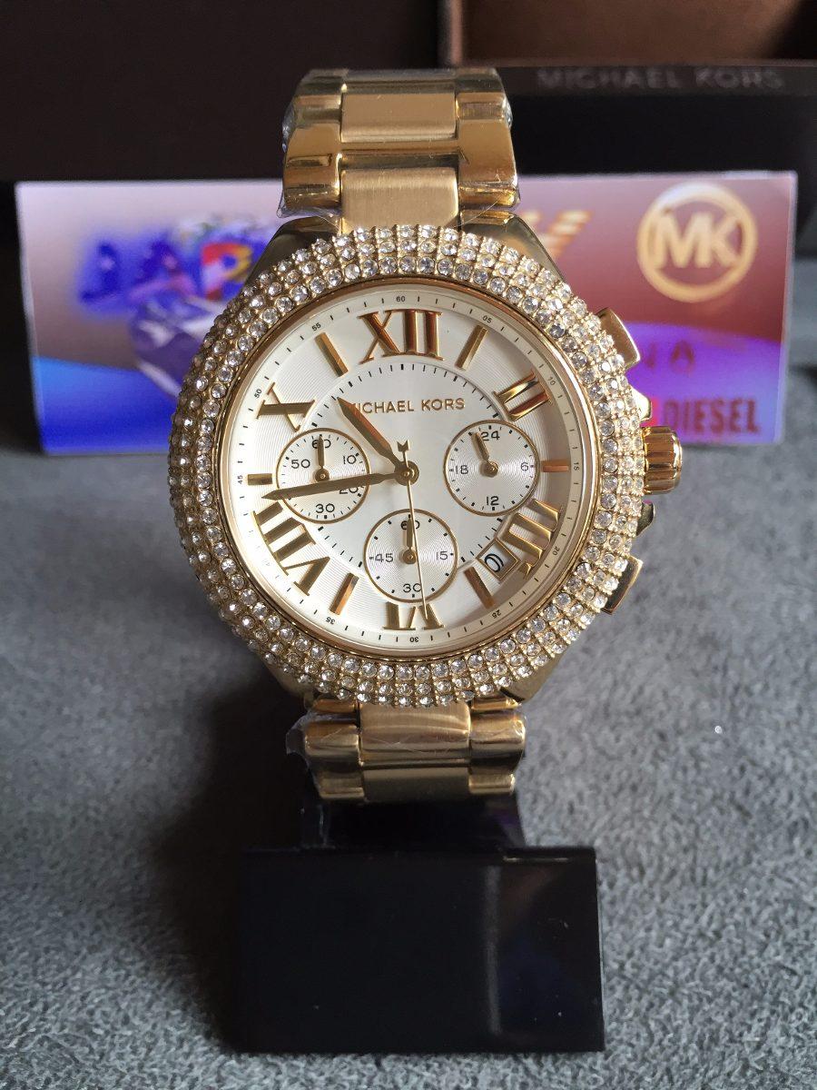 796ab13a0c4 relogio michael kors mk5756 dourado c  strass original lindo. Carregando  zoom.