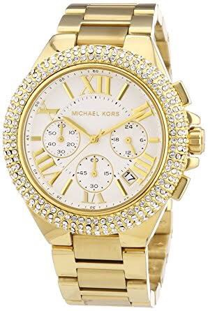 6ab7ed2c0dad9 Relógio Michael Kors Mk5756 Dourado Feminino Original - R  950