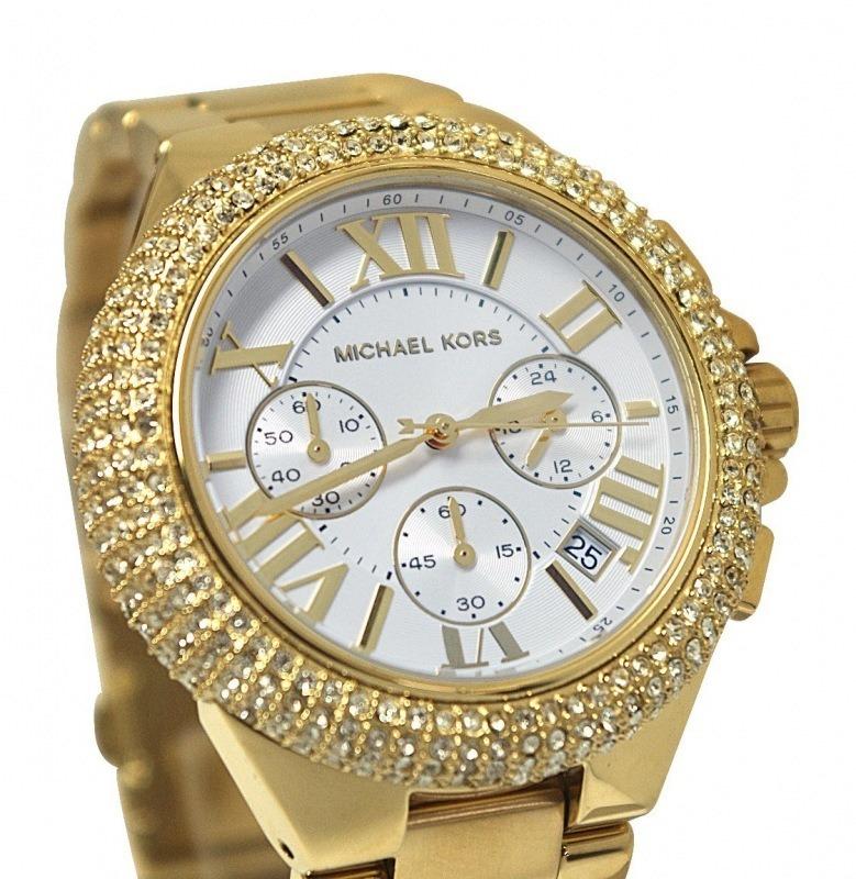 4ec17fc2e300c Relógio Michael Kors Mk5756 Gold Strass - Modelo Novo - R  489,99 em Mercado  Livre