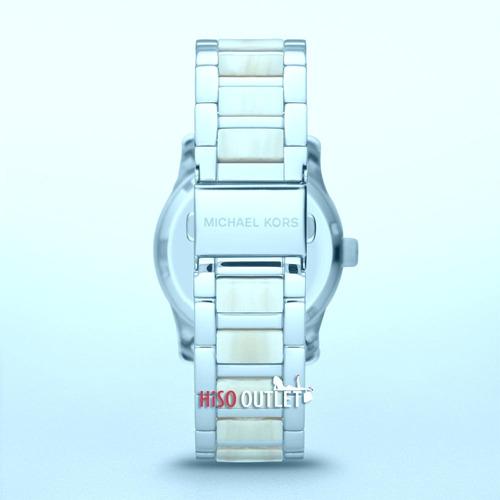 relógio michael kors mk5787 orig chron anal silver