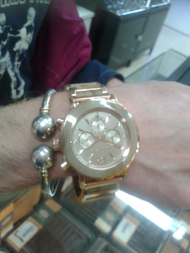 relógio michael kors mk5791 orig chron anal mother pearl