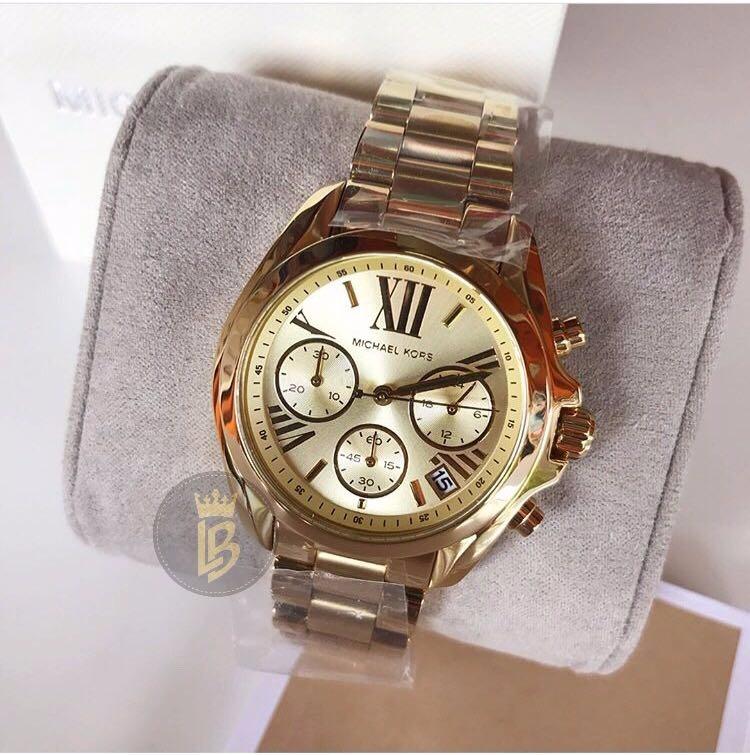 0b8f220ed04 Relógio Michael Kors Mk5798 Dourado midsize-original Complet - R ...
