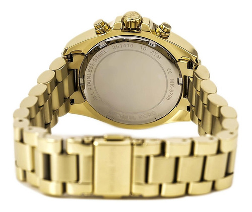 relógio michael kors mk5798 orig chron anal gold