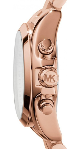 relógio michael kors mk5799 orig chron anal gold rosé