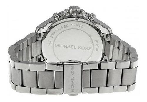 relógio michael kors mk5837 wren orig chron anal silver