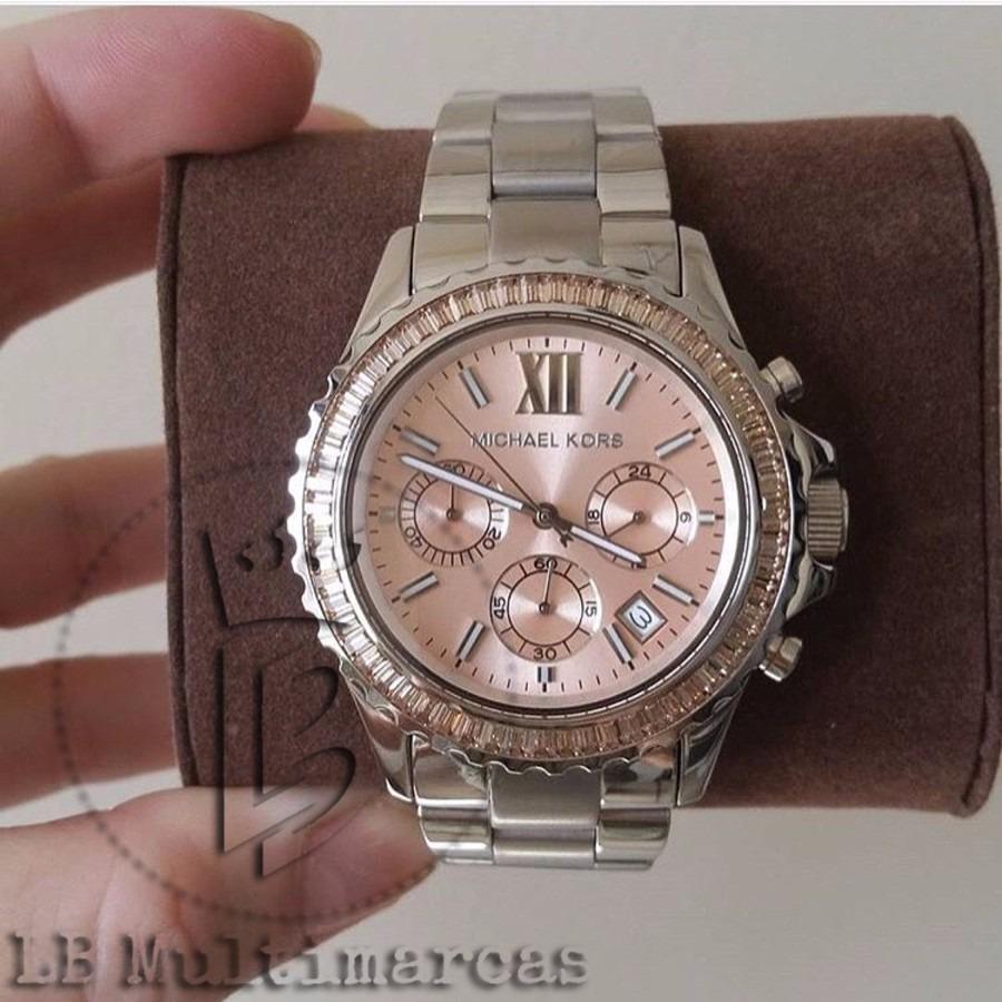 e309b7afcbf relógio michael kors mk5870 prata com fundo rose. Carregando zoom.