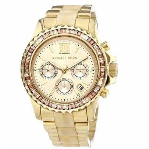Relógio Michael Kors Mk5874 Dourado Madrepérola Com Caixa. - R  516 ... 5c8f323578