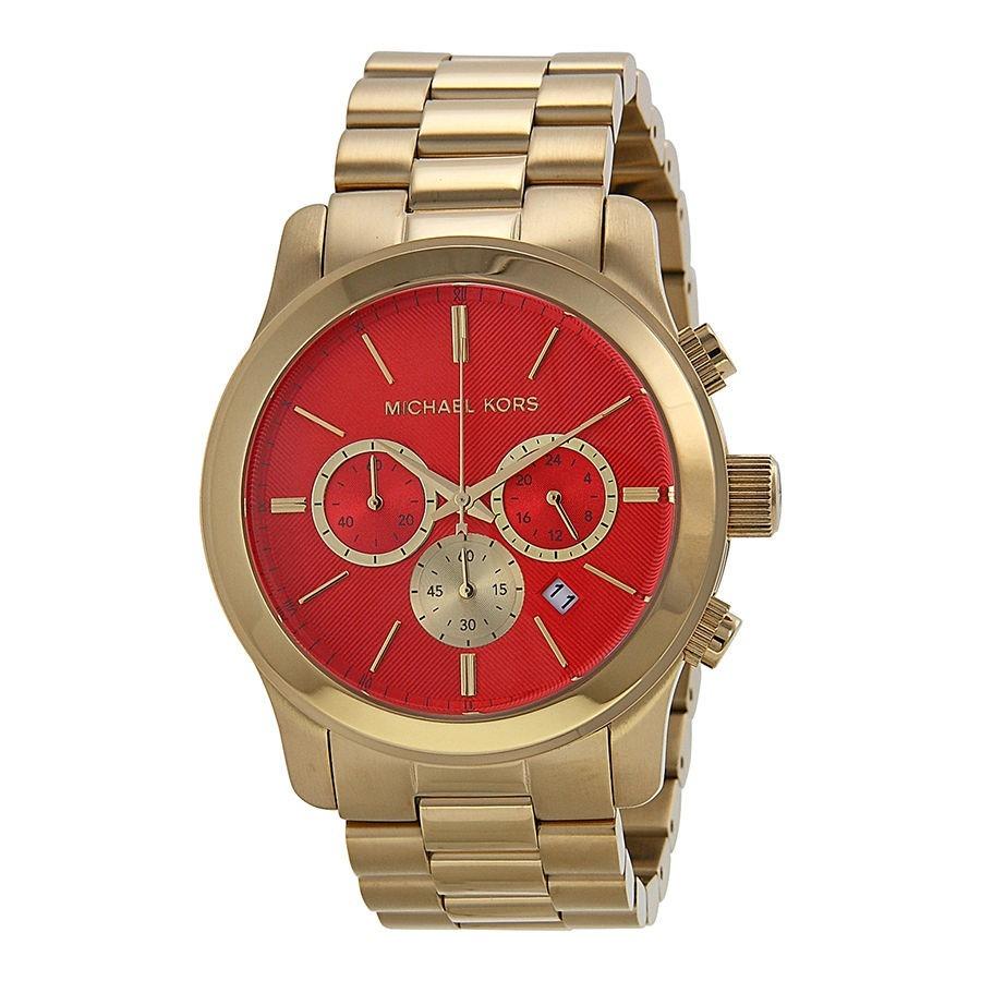 37c5a6c4f27b5 ... relógio michael kors mk5930 dourado e laranja caixa e manual. Carregando  zoom.