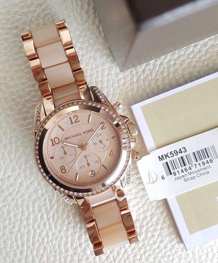 9f842a40874d8 Relógio Michael Kors Mk5943 Blair Rosé - R  700,00 em Mercado Livre