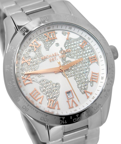 relógio michael kors mk5958 layton orig anal gold silver