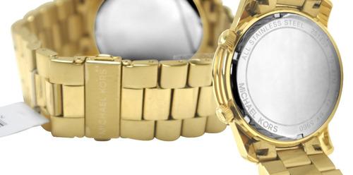 relógio michael kors mk5960 orig anal ed.lmtda gold