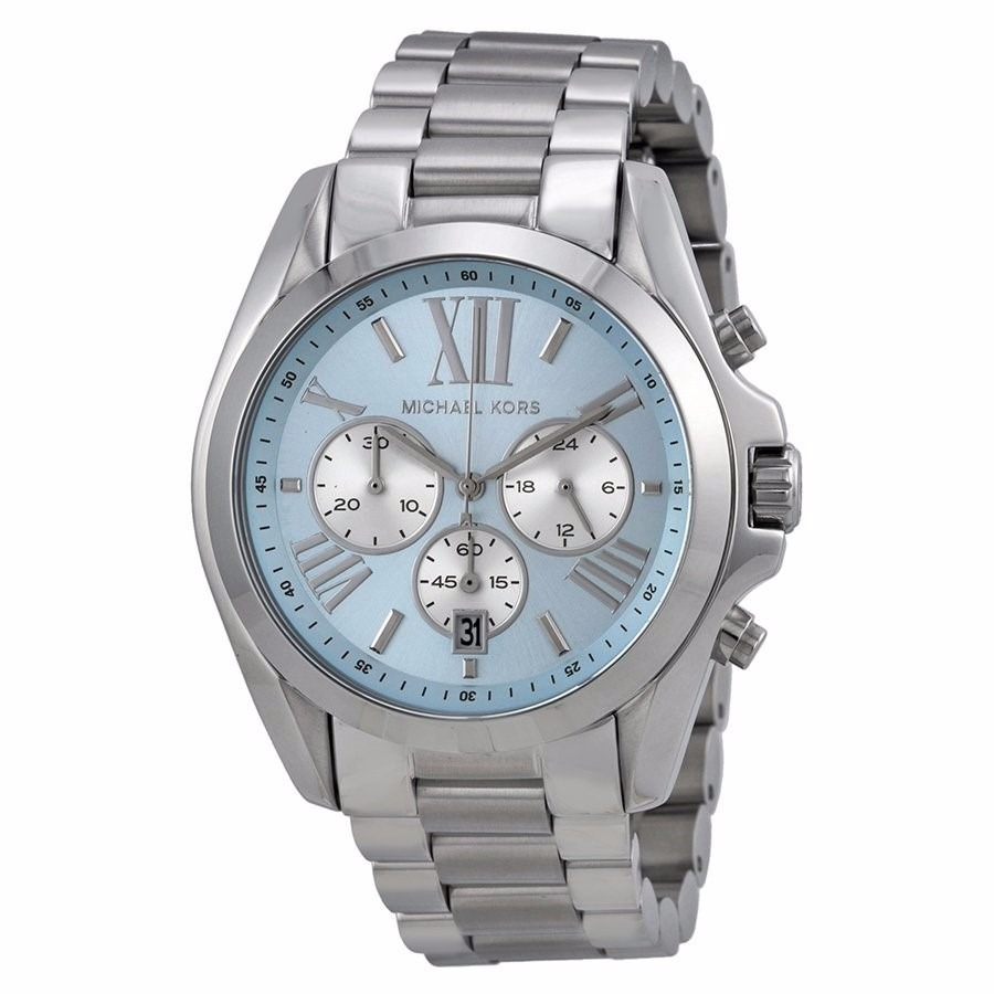 0fd938eacee56 relógio michael kors mk6099 original prata e azul bebê 43mm. Carregando  zoom.