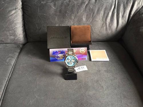 relogio michael kors mk6099 prata original completo c/ caixa