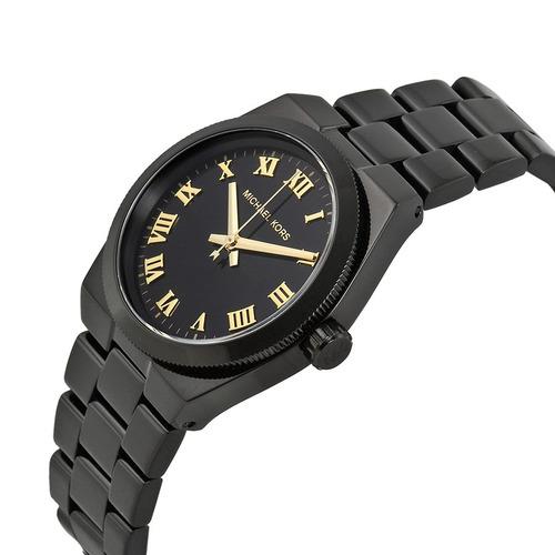 relógio michael kors mk6100 orig anal gold black!!!