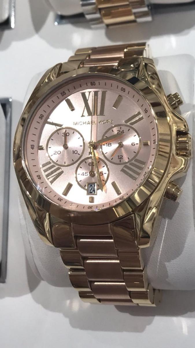 ebae68aa2af92 relógio michael kors mk6359 dourado com rosa salmão origi. Carregando zoom.