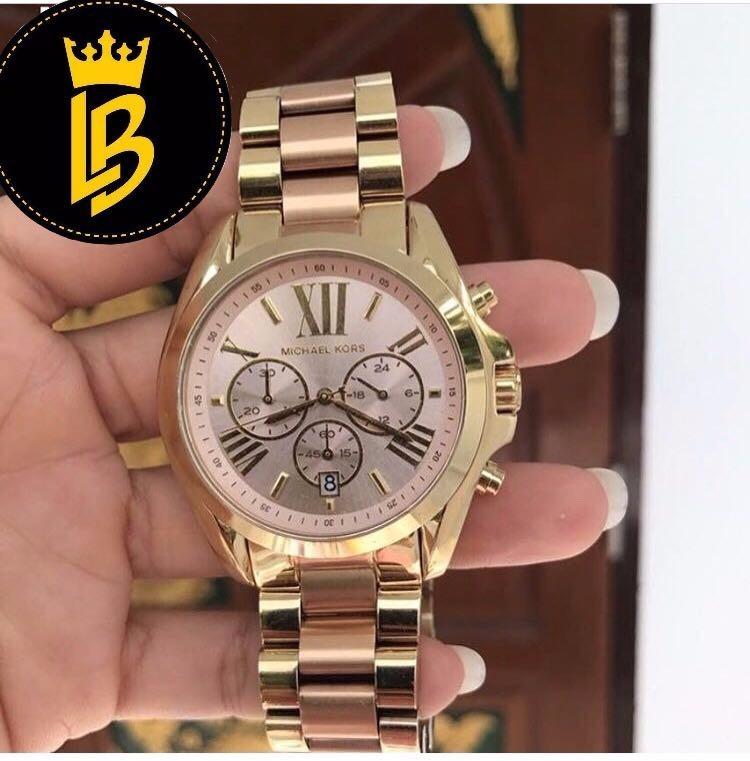 17518a9734243 Relógio Michael Kors Mk6359 Lançamento Romano Rosa - R  850