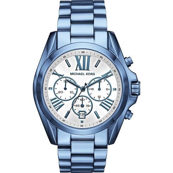 4633c5f78 Relógio Michael Kors Mk6488 Bradshaw Orig Chron Anal Blue - R$ 2.499 ...
