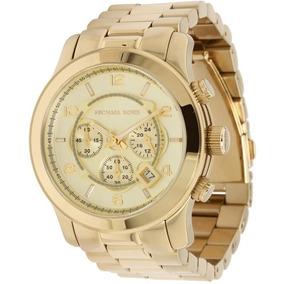7811eda86 Relógio Michael Kors Original Dourado Fundo Branco Mk8077 - Relógios De  Pulso no Mercado Livre Brasil