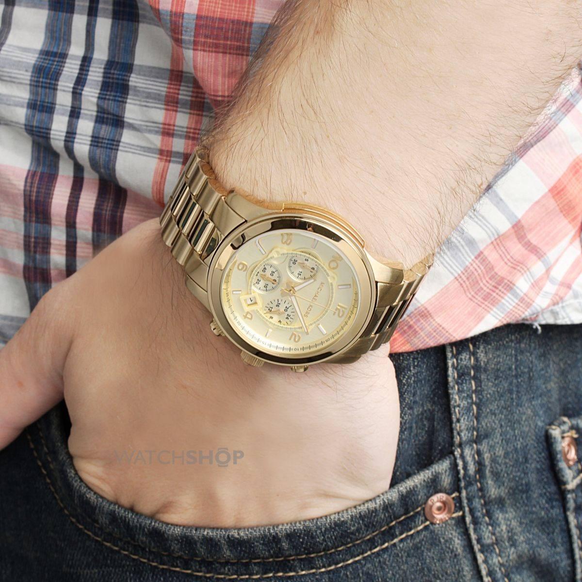 e599e804b Relógio Michael Kors Mk8077 Oversized Unissex Dourado - R$ 989,00 ...