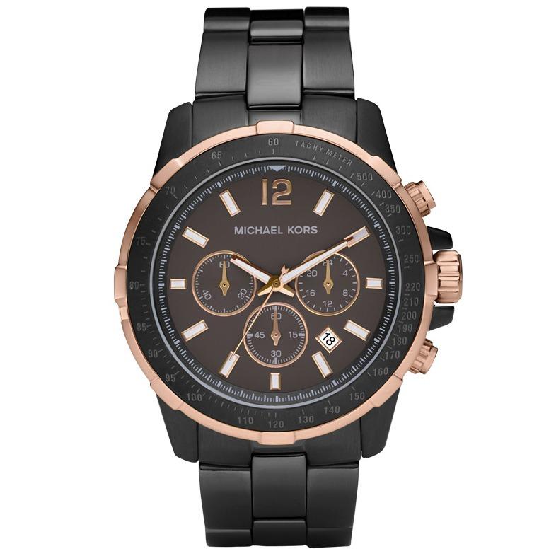 057a59414 Relógio Michael Kors Mk8173 Grayson Orig Chron Anal Black - R$ 2.999 ...