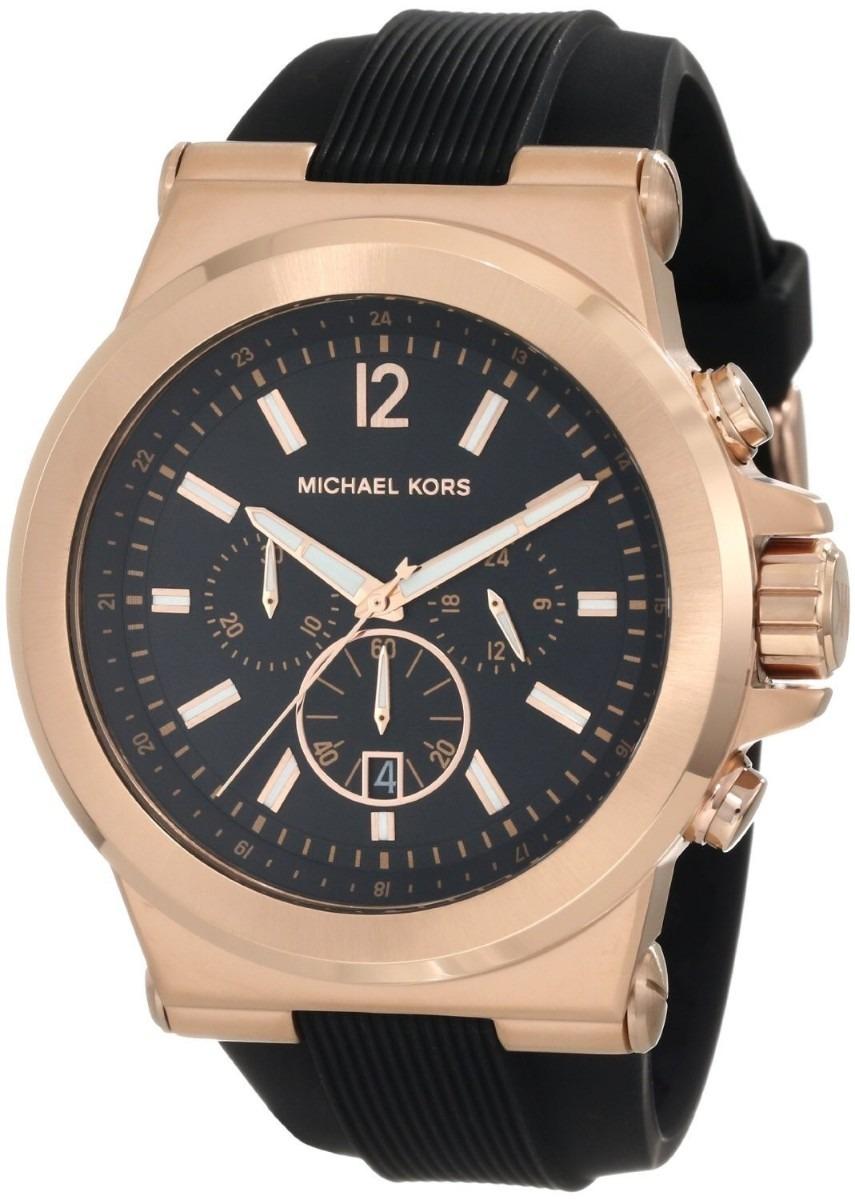 41c2964a8705f relógio michael kors mk8184 preto e rose masculino na caixa. Carregando  zoom.