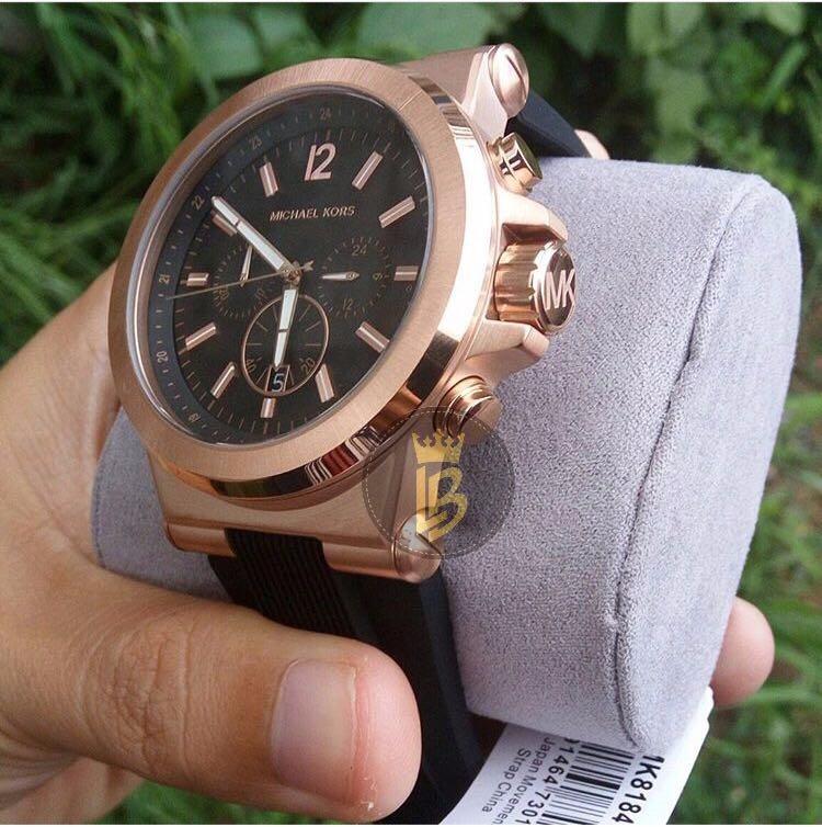 1ebd71fe3a4b8 Relógio Michael Kors Mk8184 Rose Preto Unissex Origina+caixa - R ...