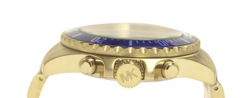 relógio michael kors mk8267  orig chron anal gold!